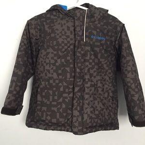 Columbia Winter Coat Gray Black Blue Size 3T